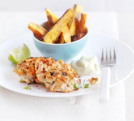 Salmon & ginger fish cakes