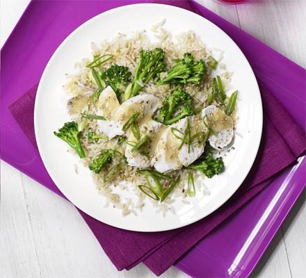 Miso brown rice & chicken salad