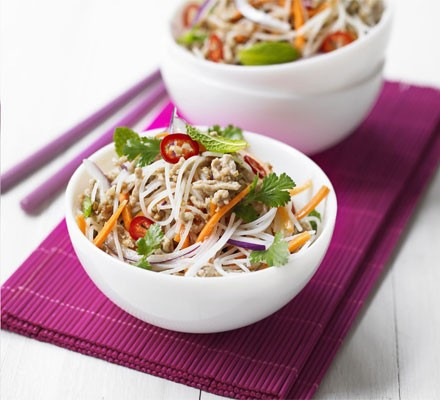 Zesty rice noodle salad
