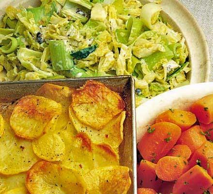 Tray-baked potatoes