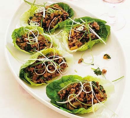 Hoisin chicken in crisp lettuce