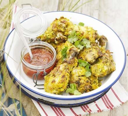 Satay chicken pieces