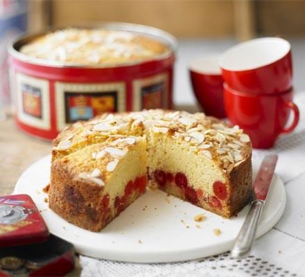 Cherry & almond cake