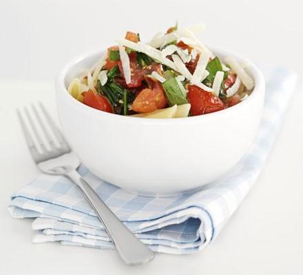 Squished tomato pasta sauce