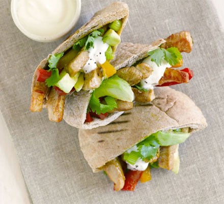 Turkey & pepper pittas