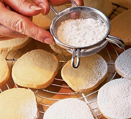 Vanilla shortbread dough
