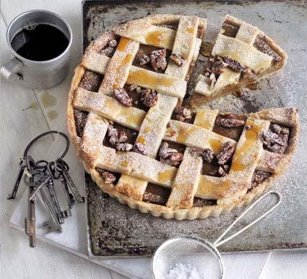 Butternut, maple & pecan lattice pie