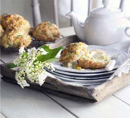 Cheddar & sweetcorn scones