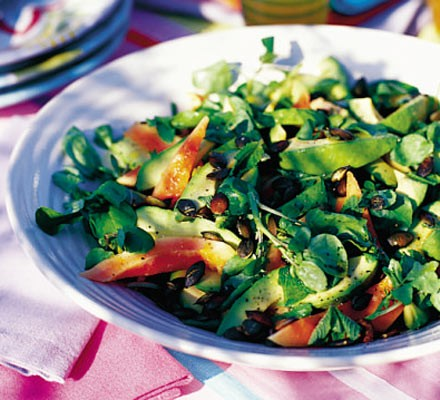 Exotic avocado salad