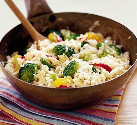 Veggie egg-fried rice