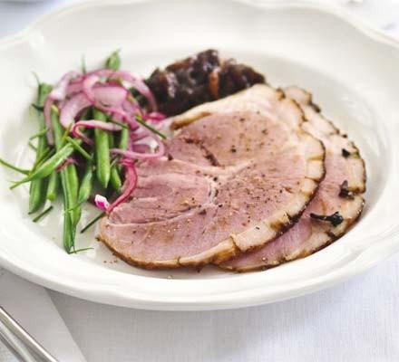 Sticky treacle-glazed ham