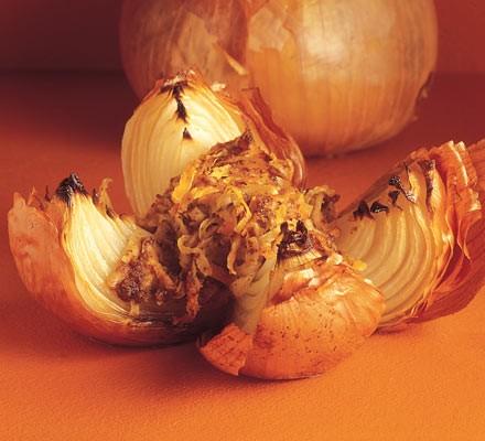 Rosti-filled onions