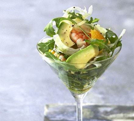 Avocado, prawn & fennel cocktails