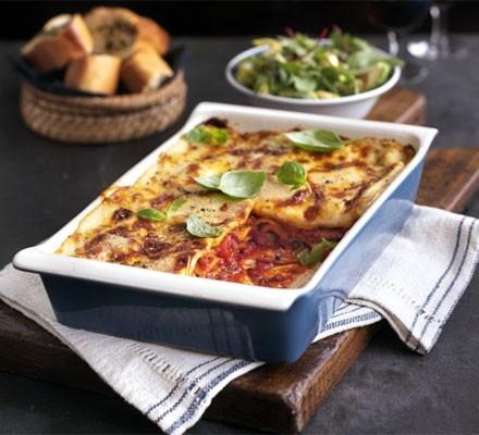 Cheese & bacon lasagne