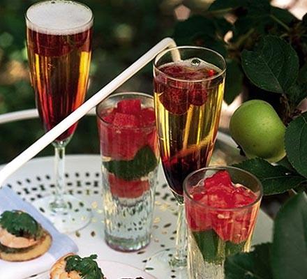 Watermelon gin spritzer