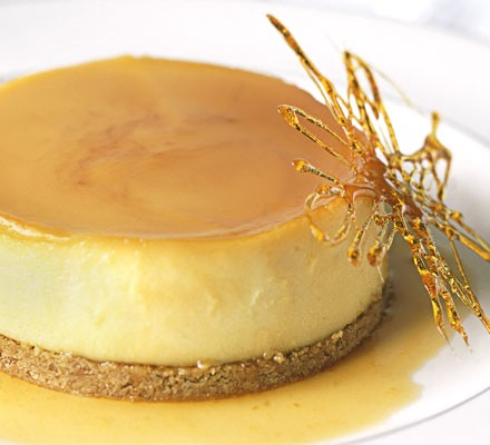 Orange crème caramel cheesecakes