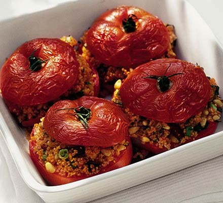 Couscous-stuffed beef tomatoes