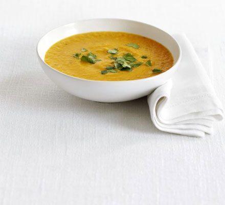 Sweet potato & lentil soup image