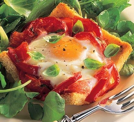 Crunchy baked eggs