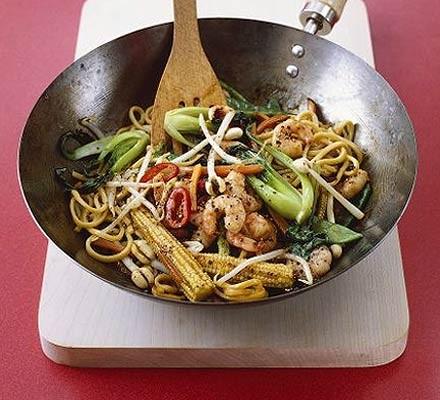 Prawn & black pepper stir-fry