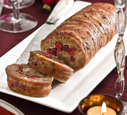 Chestnut & cranberry roll