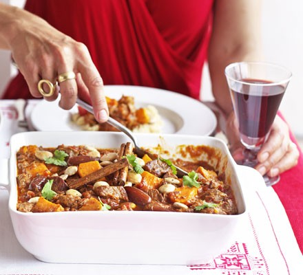 Lamb tagine with dates & sweet potatoes