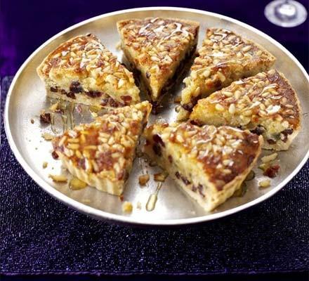 Pine nut & honey tart
