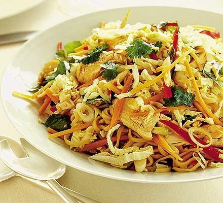 Warm Thai chicken & noodle salad