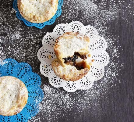 Deep-filled mince pies on paper cases