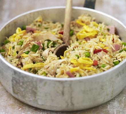 Speedy spicy turkey rice