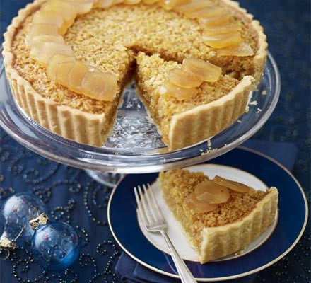 Stem Ginger Treacle Tart Recipe Bbc Good Food