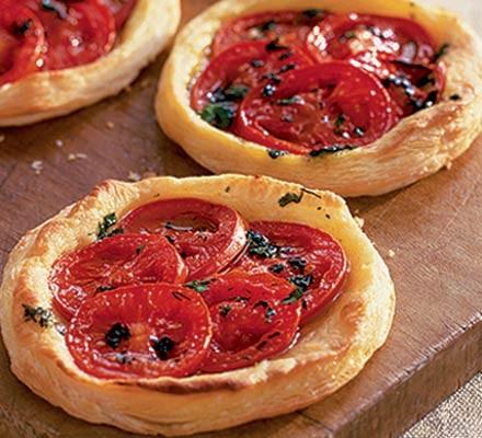 Mint & coriander tomato tarts