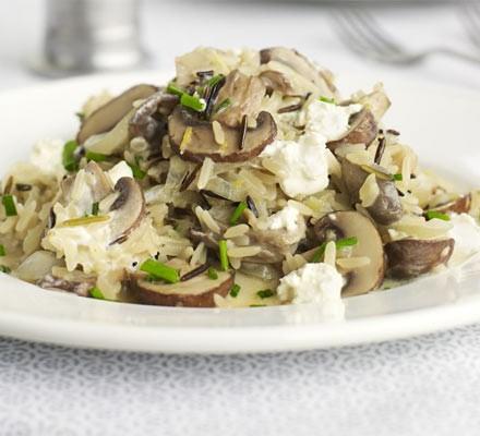 Lemony mushroom pilaf