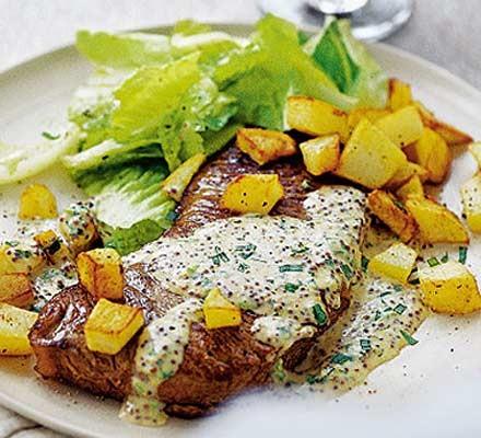 Super steak with cheat's Bearnaise