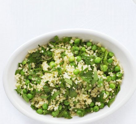 大蒜& herb bulgur wheat