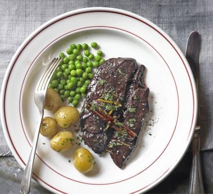 Venison steak with Port sauce