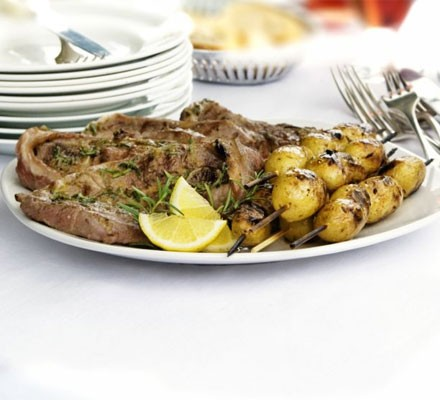 Rosemary & anchovy lamb steaks