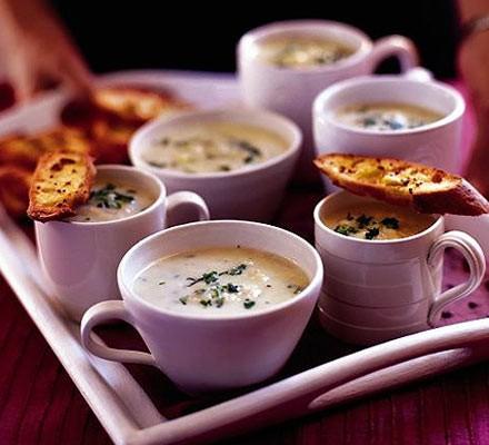 Mum's leek & potato soup with mustard toasts