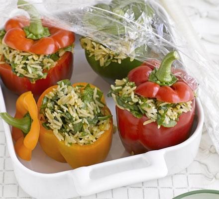 Spiced pepper pilafs