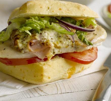 Creamy ham & mustard chicken