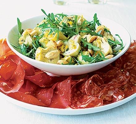 Artichoke & lemon salad