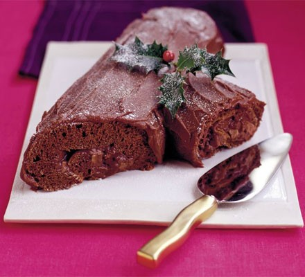 Yule chocolate log