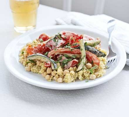 Roasted vegetable couscous with mascarpone