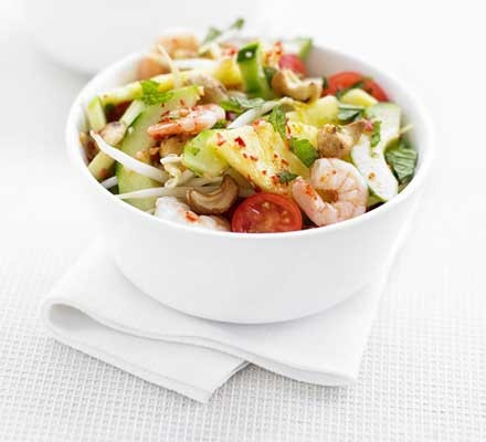 Asian prawn & pineapple salad