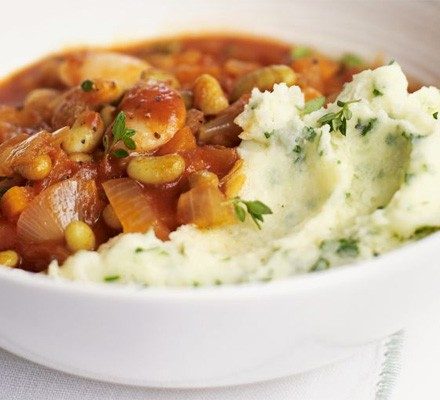 Somerset stew with cheddar & parsley mash