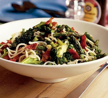 Spring vegetable noodles