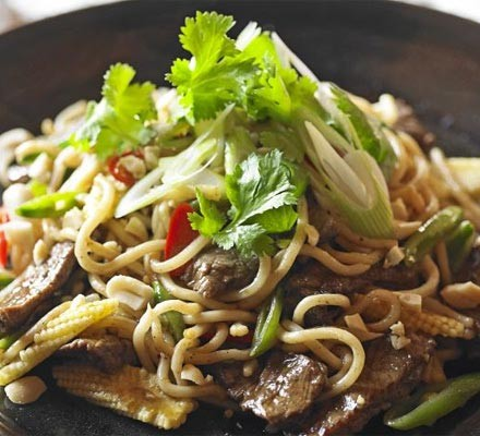 Beef stir-fry with ginger