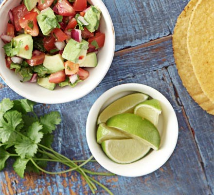 Chunky tomato & avocado salsa