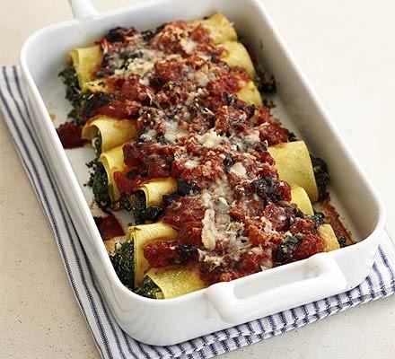 Spinach & feta cannelloni