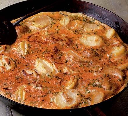 New potato & pecorino frittata